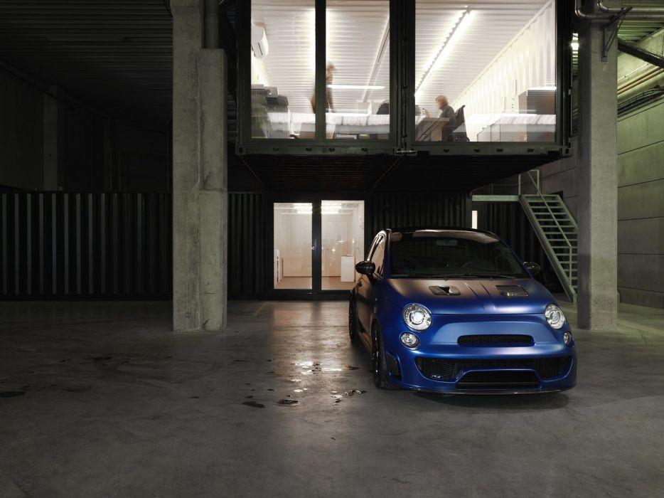 Pogea Racing Abarth 500 Blue Wonder cars modified 2015 wallpaper
