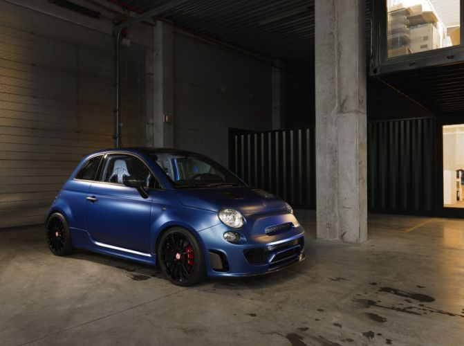 Pogea Racing Abarth 500 Blue Wonder cars modified 2015 wallpaper