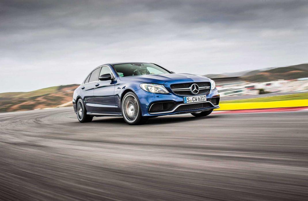 2015 Mercedes-Benz AMG C63-S cars sedan wallpaper