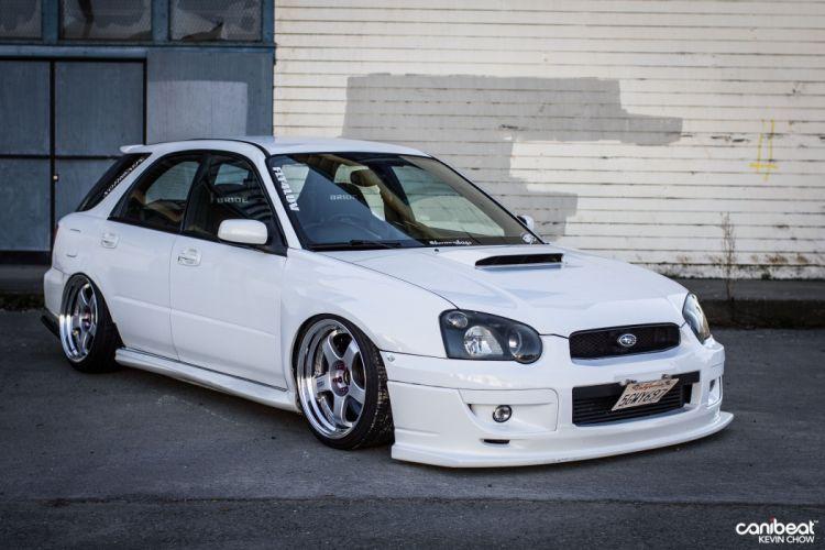 2004 Subaru WRX stationwagon tuning custom wallpaper
