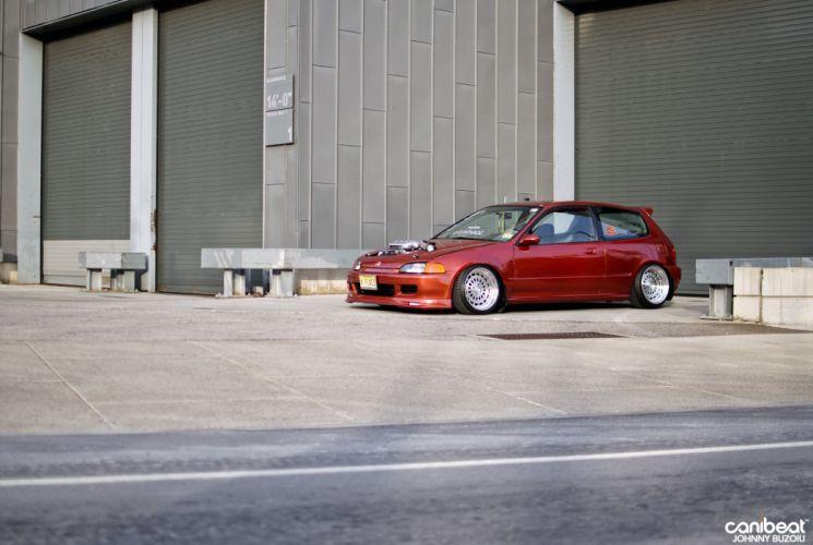 1992 Honda Civic DX tuning custom wallpaper