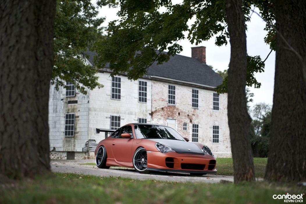 Porsche 996 Carrera tuning custom wallpaper