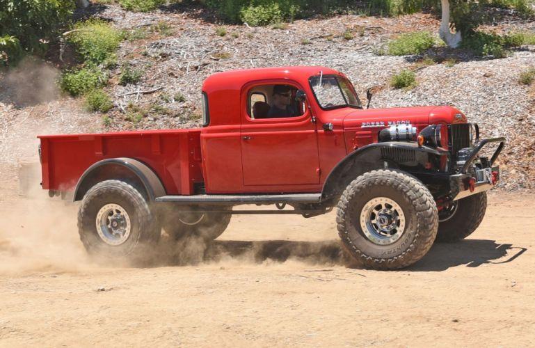 Dodge Power Wagon offroad 4x4 pickup retro custom wallpaper