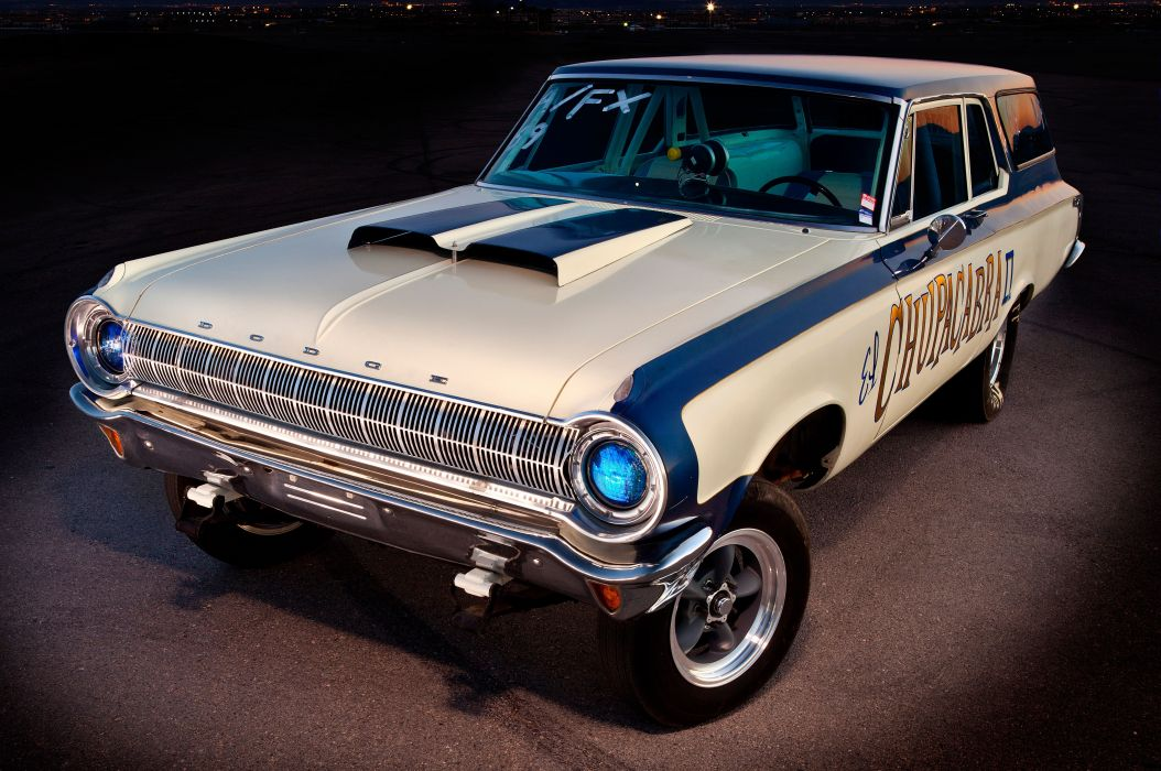 1964 Dodge 330 Wagon drag racing race hot rod rods stationwagon classic wallpaper
