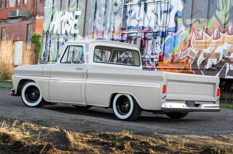 1966 Chevrolet C10 pickup hot rod rods custom classic lowrider wallpaper