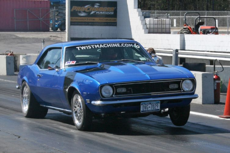 1968 Chevrolet Camaro hot rod rods custom muscle classic wallpaper