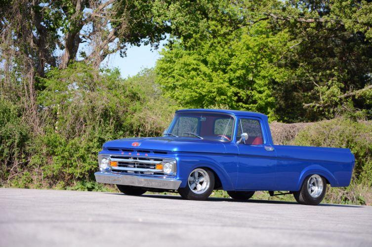 1962 Ford F100 Unibody pickup hot rod rods custom classic wallpaper