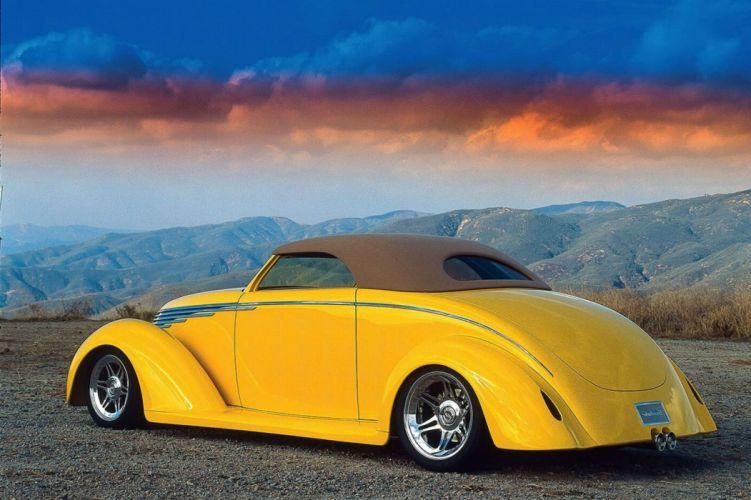 1937 Ford Cabriolet Smoothster hot rod rods custom retro wallpaper