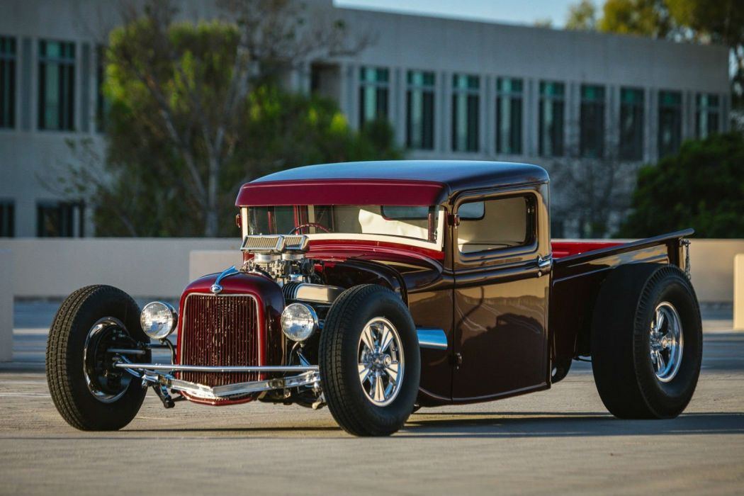 1934 Ford hot rod pickup rods custom retro vintage wallpaper