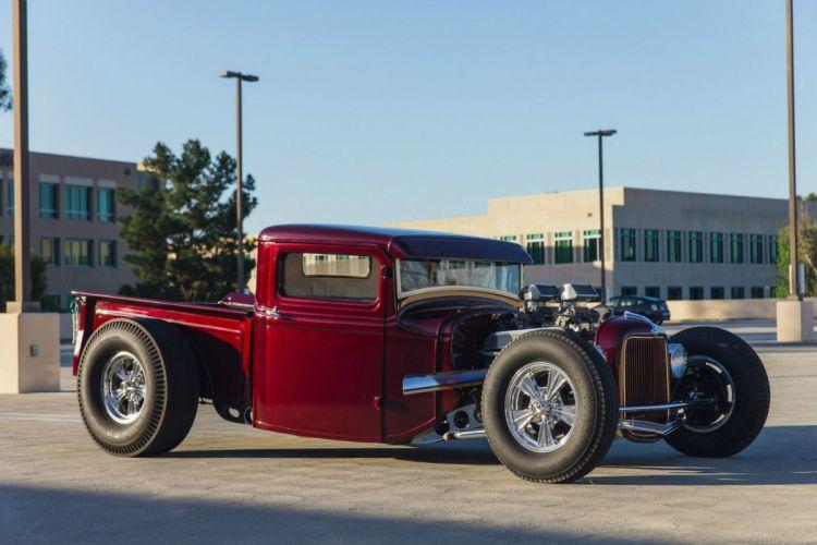1934 Ford hot rod pickup rods custom retro vintage wallpaper