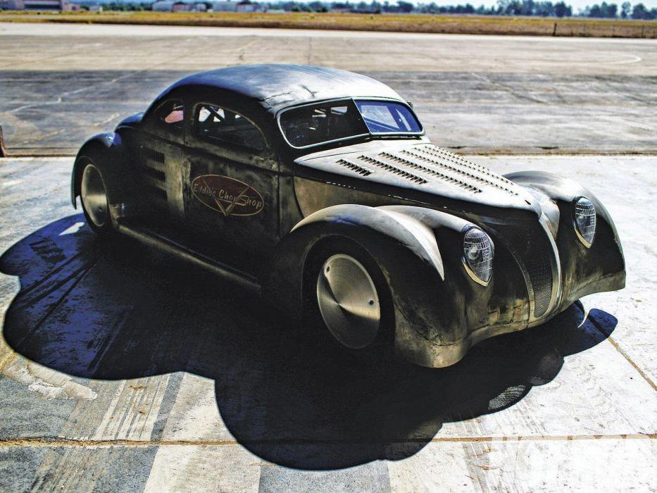 1937 Ford Coupe custom hot rod rods retro rat wallpaper