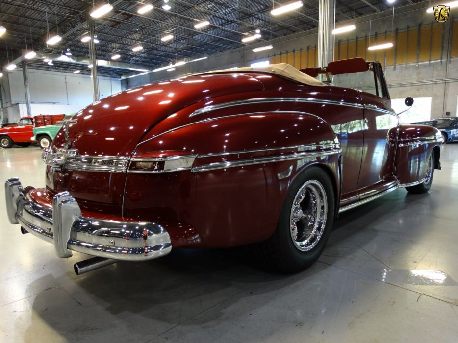 1948 Mercury Eight Convertible custom hot rod rods retro wallpaper