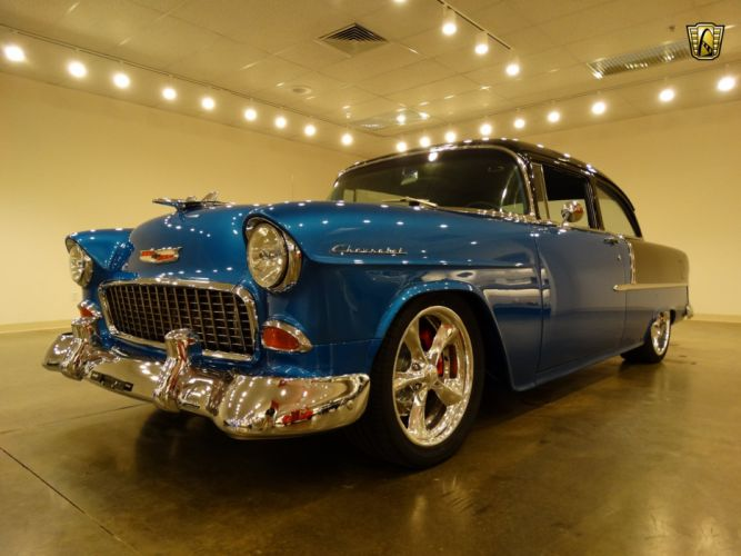 1955 Chevrolet 210 custom hot rod rods retro wallpaper