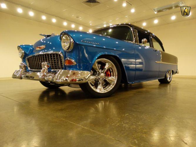 1955 Chevrolet 210 custom hot rod rods retro wallpaper