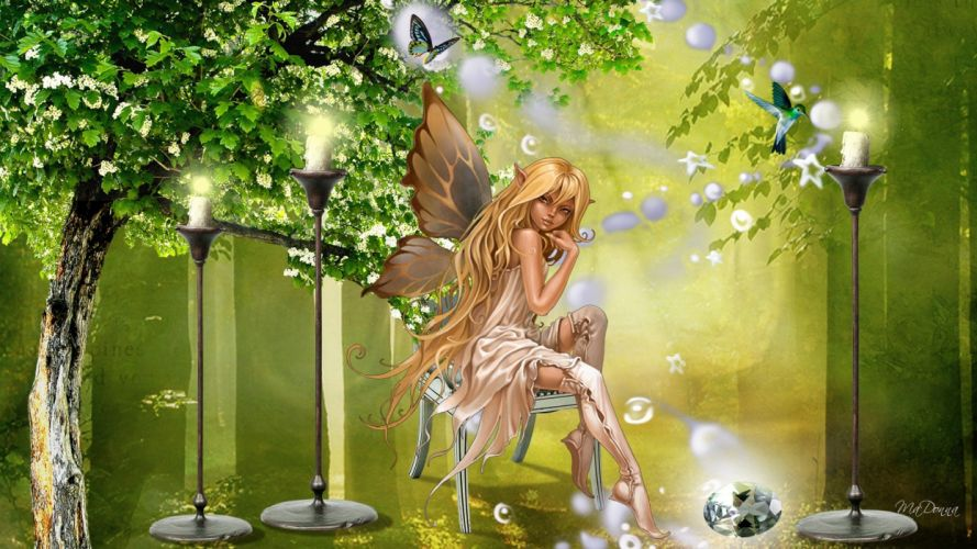 hada de los bosques fantasia wallpaper
