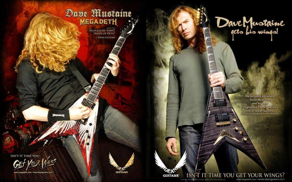 MEGADETH thrash metal heavy poster guitar fz wallpaper