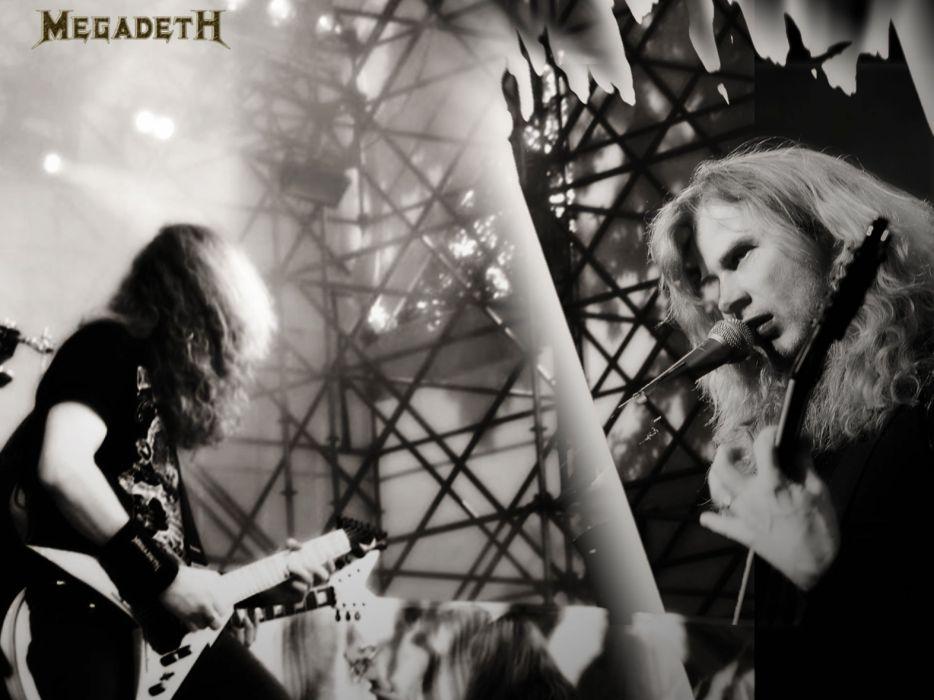 MEGADETH thrash metal heavy poster guitar concert qx wallpaper
