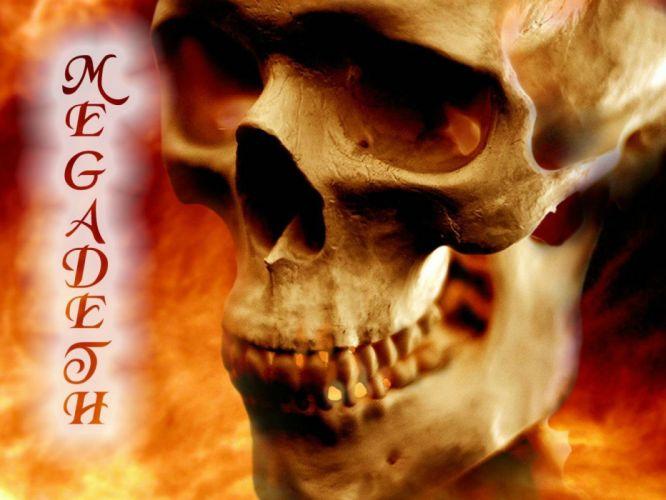 MEGADETH thrash metal heavy poster dark skull de wallpaper