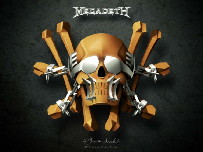 MEGADETH thrash metal heavy poster dark skull rk wallpaper