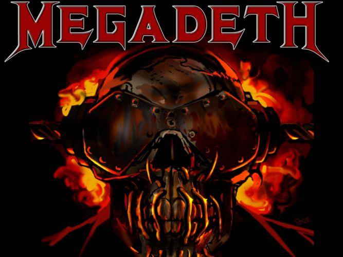 MEGADETH thrash metal heavy poster dark skull cr wallpaper