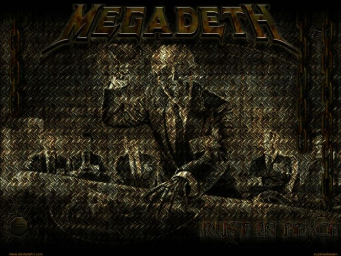 MEGADETH thrash metal heavy poster dark skull yu wallpaper