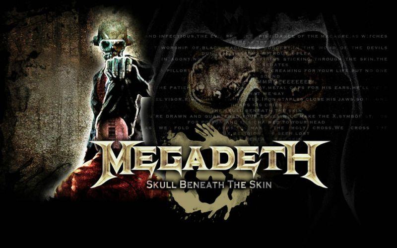 MEGADETH thrash metal heavy poster dark skull f wallpaper