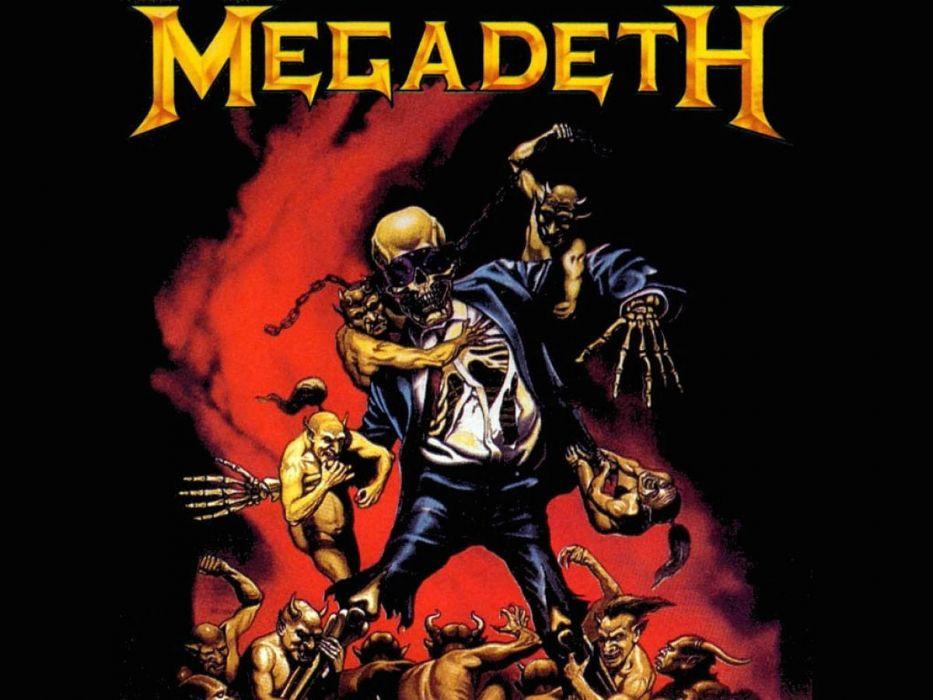 MEGADETH thrash metal heavy poster dark skull gj wallpaper