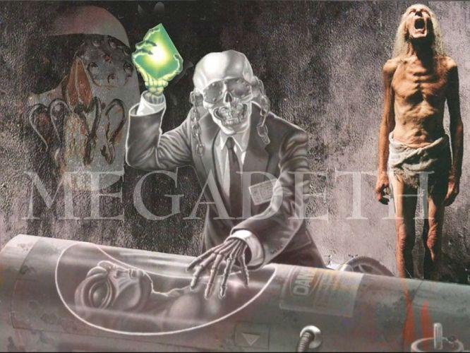 MEGADETH thrash metal heavy poster dark skull cg wallpaper