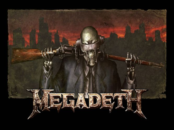 MEGADETH thrash metal heavy poster dark skull hq wallpaper