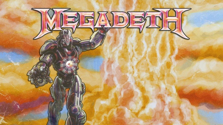 MEGADETH thrash metal heavy poster dark skull robot fire d wallpaper