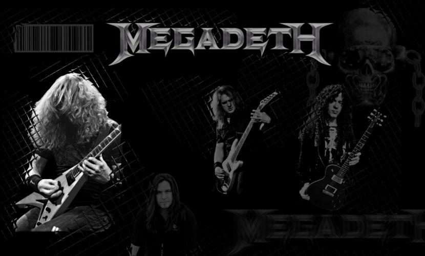 MEGADETH thrash metal heavy poster dark skull guitar concert f wallpaper