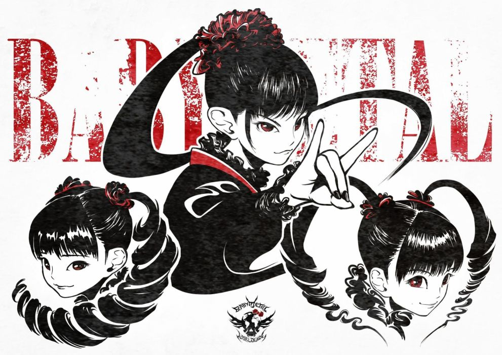 BABYMETAL japanese idol metal jpop j-pop pop heavy asian oriental girl girls 1bmetal visual kei heavy poster wallpaper