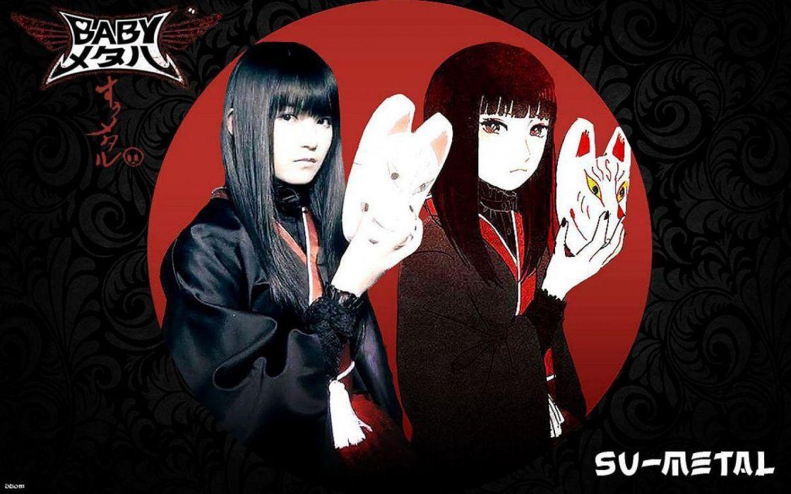 BABYMETAL japanese idol metal jpop j-pop pop heavy asian oriental girl girls 1bmetal visual kei heavy poster wallpaper