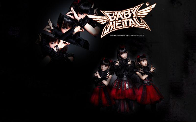 BABYMETAL japanese idol metal jpop j-pop pop heavy asian oriental girl girls 1bmetal visual kei heavy poster 5 wallpaper