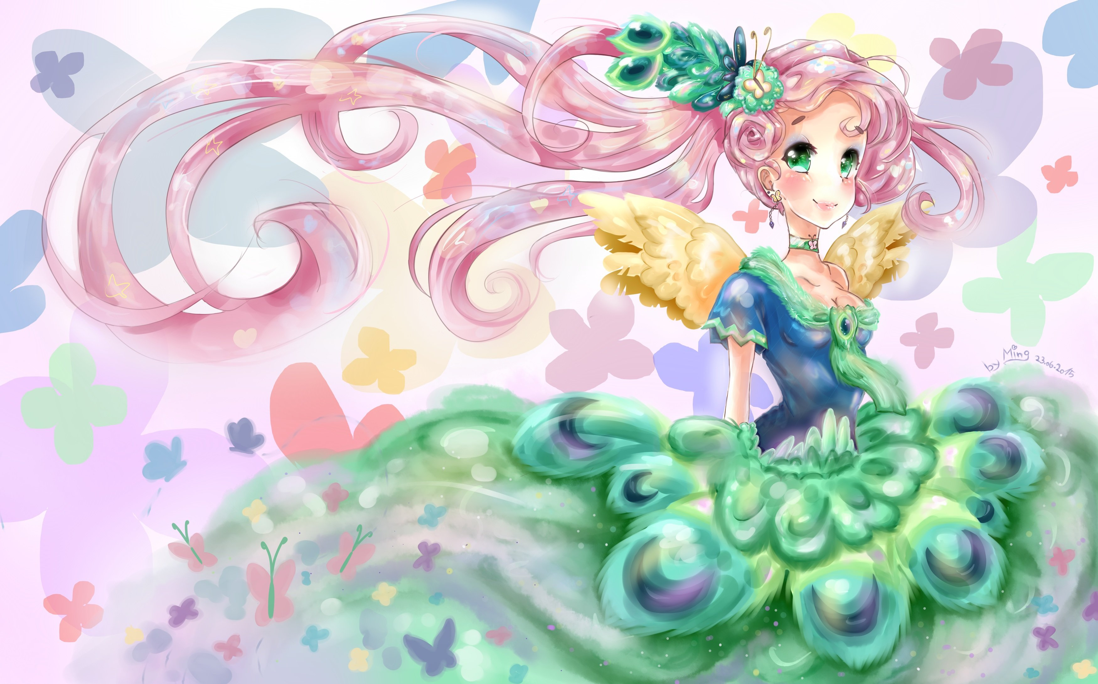 fluttershy my little pony wallpaper 3500x2179 735964