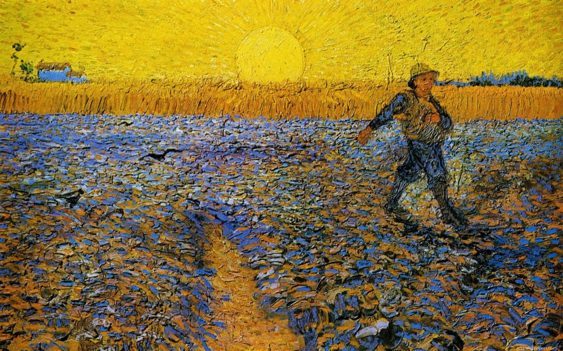 vicent van gogh arte pintura campo hombre wallpaper