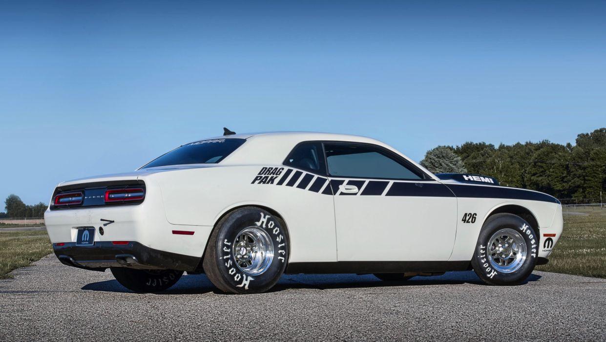 2015 Mopar Challenger 426 Hemi Drag Pak cars muscle wallpaper