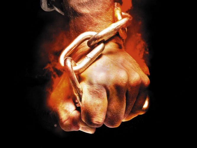 Styles hand arts flame chain fist black fire wallpaper