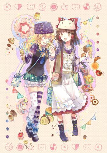 Touhou Kirisame Marisa Hakurei Reimu wallpaper