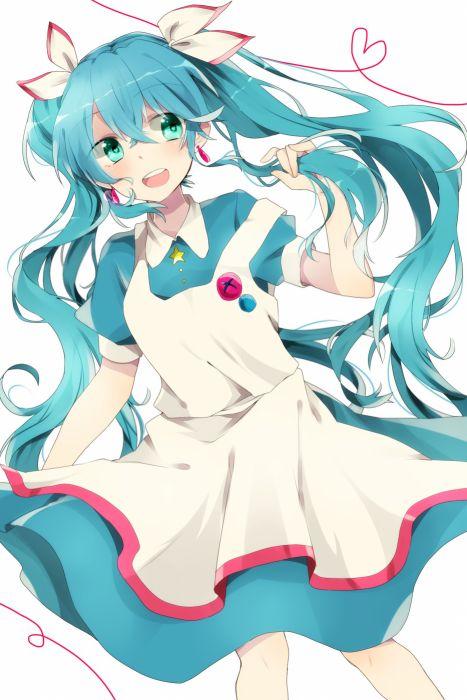 Vocaloid Hatsune Miku Puffy Sleeves Heart Line Apron wallpaper
