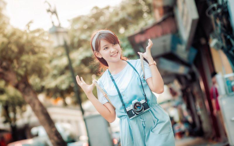 women mood model woman female girl girls oriental asian wallpaper