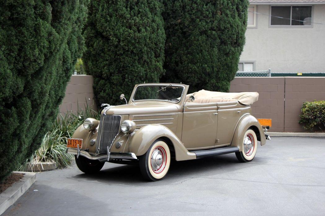 1936 Ford-V8 Deluxe Convertible Sedan cars classic wallpaper