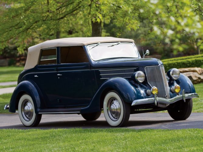 1936 Ford-V8 Deluxe Convertible Sedan cars classic wallpaper
