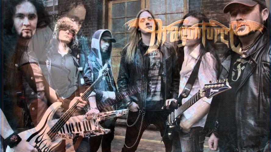 DRAGONFORCE speed power metal heavy progressive guitar poster wallpaper
