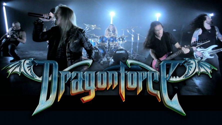 DRAGONFORCE speed power metal heavy progressive guitar concert poster wallpaper