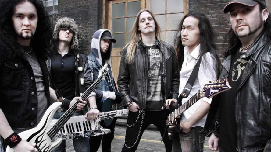 DRAGONFORCE speed power metal heavy progressive guitar wallpaper