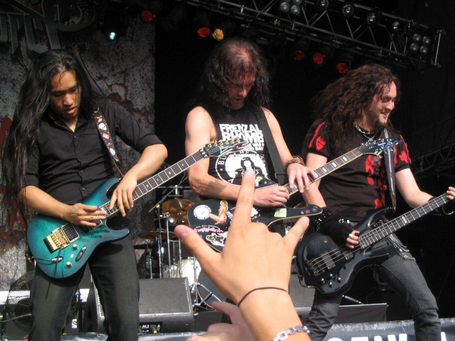DRAGONFORCE speed power metal heavy progressive guitar concert wallpaper