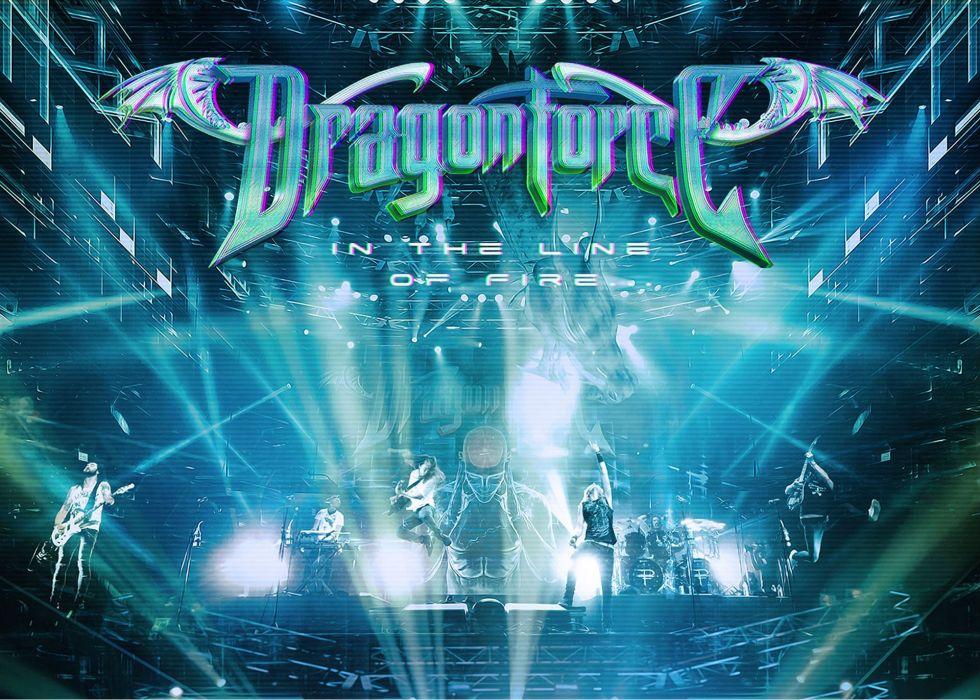 DRAGONFORCE speed power metal heavy progressive artwork poster concert wallpaper