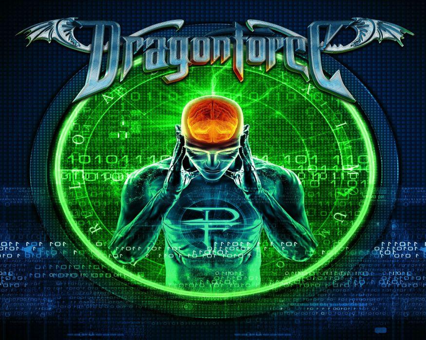 DRAGONFORCE speed power metal heavy progressive artwork poster brain sci-fi psychedelic wallpaper