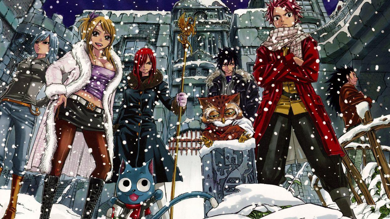 fairy tail anime series group girls boys wallpaper